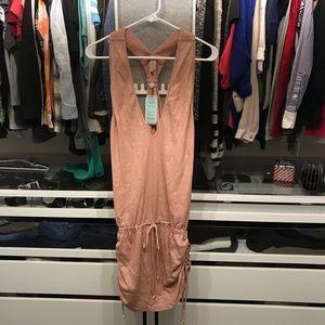 Luli fama RoseSilver Tback mini dress coverup